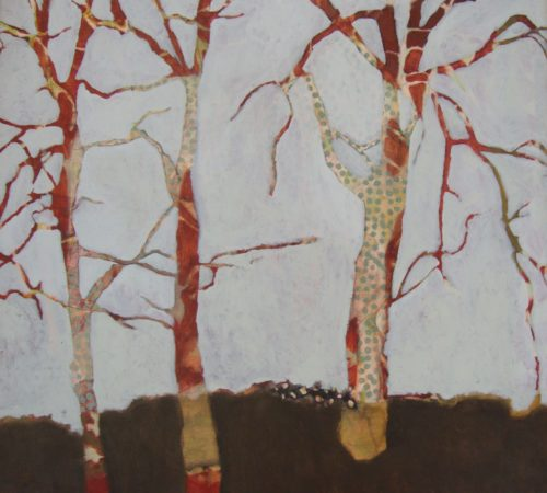 "Tree Trio 24"" x 23"" oil on canvas"